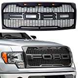 Fit 2009-2014 Ford F-150 F150 Grille Matte BLACK Raptor Style Conversion Grill w/F&R