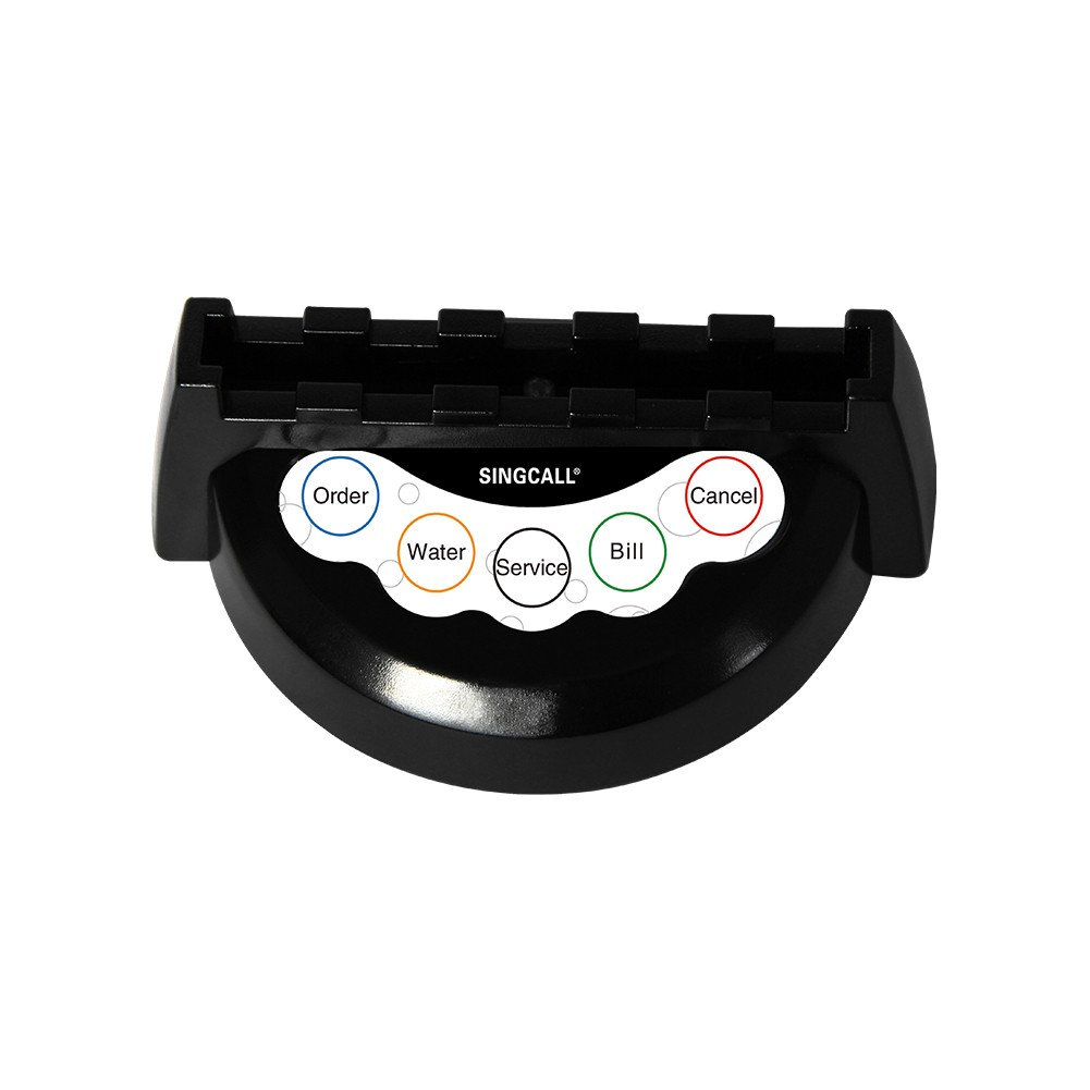 for Cafe Hotel Pub APE950-2 Wireless Pager Button,Monochromatic Light,5-Button Pager SINGCALL Wireless Service Calling System Cant Be Used Alone