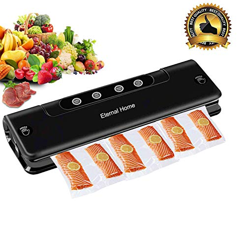 Eternal Home Vacuum Sealer, Automatic / Manual Food Vacuum Sealing System, 5-Speed Adjustable,15 Pcs Bags