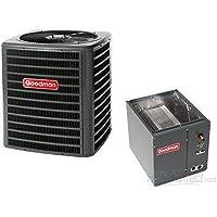 GOODMAN AIR CONDITIONER 5 TON 14 SEER SYSTEM VERTICAL 21 CASED COIL - GSX140601 / CAPT4961C4