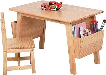 Juego de mesa y silla de madera maciza escritorio, jardín de ...