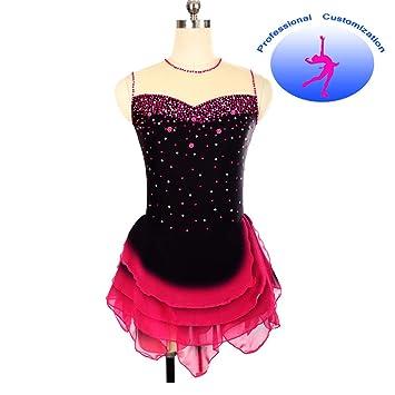 CUIXI Eiskunstlaufkleider Eiskunstlauf Kleid Für Mädchen Frauen ...