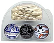 GBM Golf BB8 R2D2 Death star balls with 20 printed tees