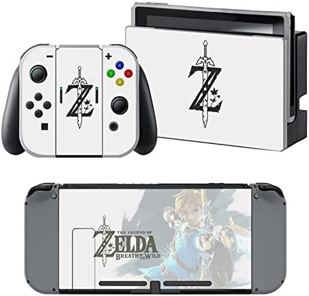 The Legend of Zelda: Breath of the Wild - Pegatina Nintendo Switch - 1 Pegatinas de Consola , 2 Pegatinas de Mandos Joy Con, 2 Pegatinas Dock y 1 Pegatina Mando.: Amazon.es: Videojuegos