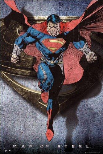DC Comics Superman Man Of Steel Comic Style Flying Maxi Poster 61 X 915 Cm