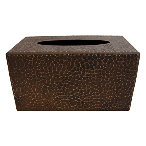 Hand Hammered Copper Tissue Box Cover -