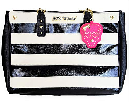 Betsey Johnson TOTE BAG IN BAG - BLACK (Johnson Charms Betsey Black)