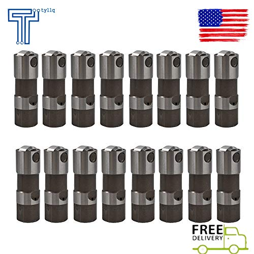 16 Pcs Performance Hydraulic Roller Lifters for GM LS7 LS2 LS1 LS3 12499225 (Best Lifters For Ls1)