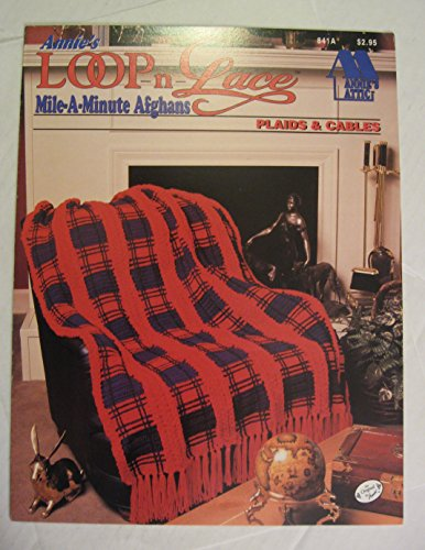 Plaid Crochet Afghan - Plaids & Cables (Annie's Loop-n-Lace Mile-A-Minute Afghans, 841A)