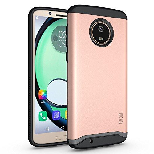 Motorola Moto G6 Case, TUDIA Slim-Fit HEAVY DUTY [MERGE] EXTREME Protection/Rugged but Slim Dual Layer Case for Motorola Moto G6 (Rose Gold)