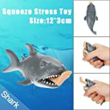 Toamen Funny Toy Shark Squeeze Stress Ball Alternative Humorous Light Hearted New, Cell Phone Pendant Strap Gift
