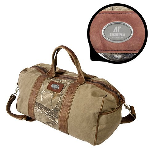 Austin Peay Canyon Realtree Camo Canvas Duffel 'AP Austin Peay Governors - Official Athletic Logo Engraved' by CollegeFanGear
