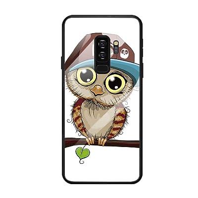Fantasyqi Fundas Compatible con Galaxy A7 2019 / Galaxy A8 PLUS 2019 / Galaxy A750 Funda Slim Espalda de Vidrio Anti-Rasguño Cristal Antigolpes Bonitas Animadas Transparentes Cristal silicona Frontera: Electrónica