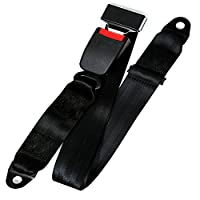 Upgrade Two-point seat belt Universal Lap Seat Belt,Universal 2 Point Fixed Adjustable Belt,Fit For UTV, Buggies,Club Golf Cart,Go Kart, Van, VR, Truck, Cars and Vehicles