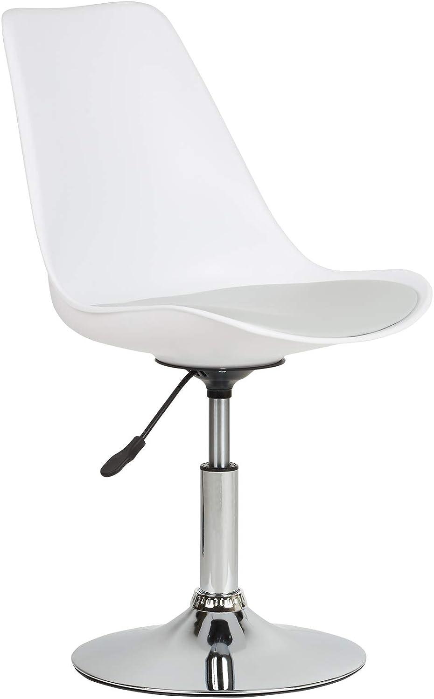 Hartleys Chaise Tournante de Style Moderne - Base Chrome/Siège