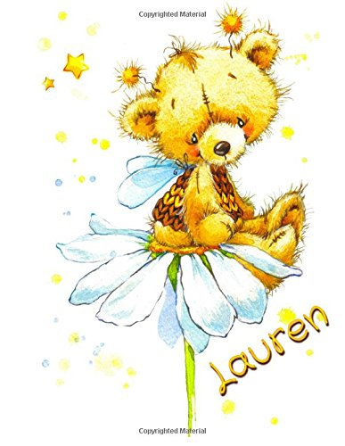 """Read Online Lauren: Personalized Notebook, Journal, Diary, Gift, 105 Lined Pages, Large Size Book 8 1/2"""" x 11"""" pdf epub"""