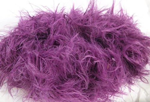 - Deep Purple Plum Italian Shaggy Fuzzy Eyelash Fun Fur Yarn