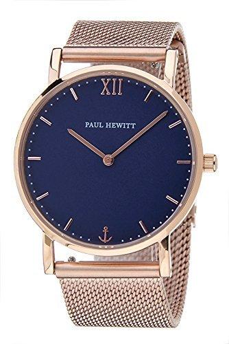 [Paul Hewitt] Paul Hewitt reloj reloj azul ~ rosa oro malla cinturón 36 mm gafas de [paralelo mercancías de importación]: Amazon.es: Relojes