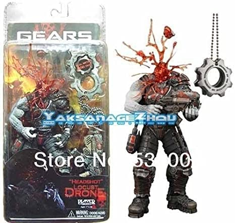 NECA GoW Gears of War Headshot Locust with a COG Tags Box Set ...