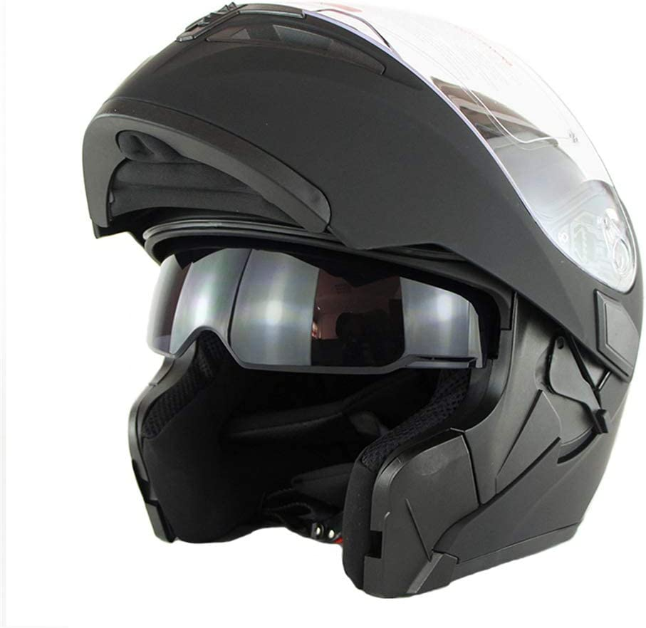 DOT for Adult Men//Women Motorbike Full face Flip Up Front Double Visor Scooter Crash Helmet OD-B Motorcycle Helmets