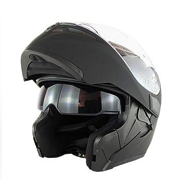 OD-B Casco Moto Integrale Motocicleta Adultos Scooter Bicicleta Doble Visera Abierto Protección Dot para