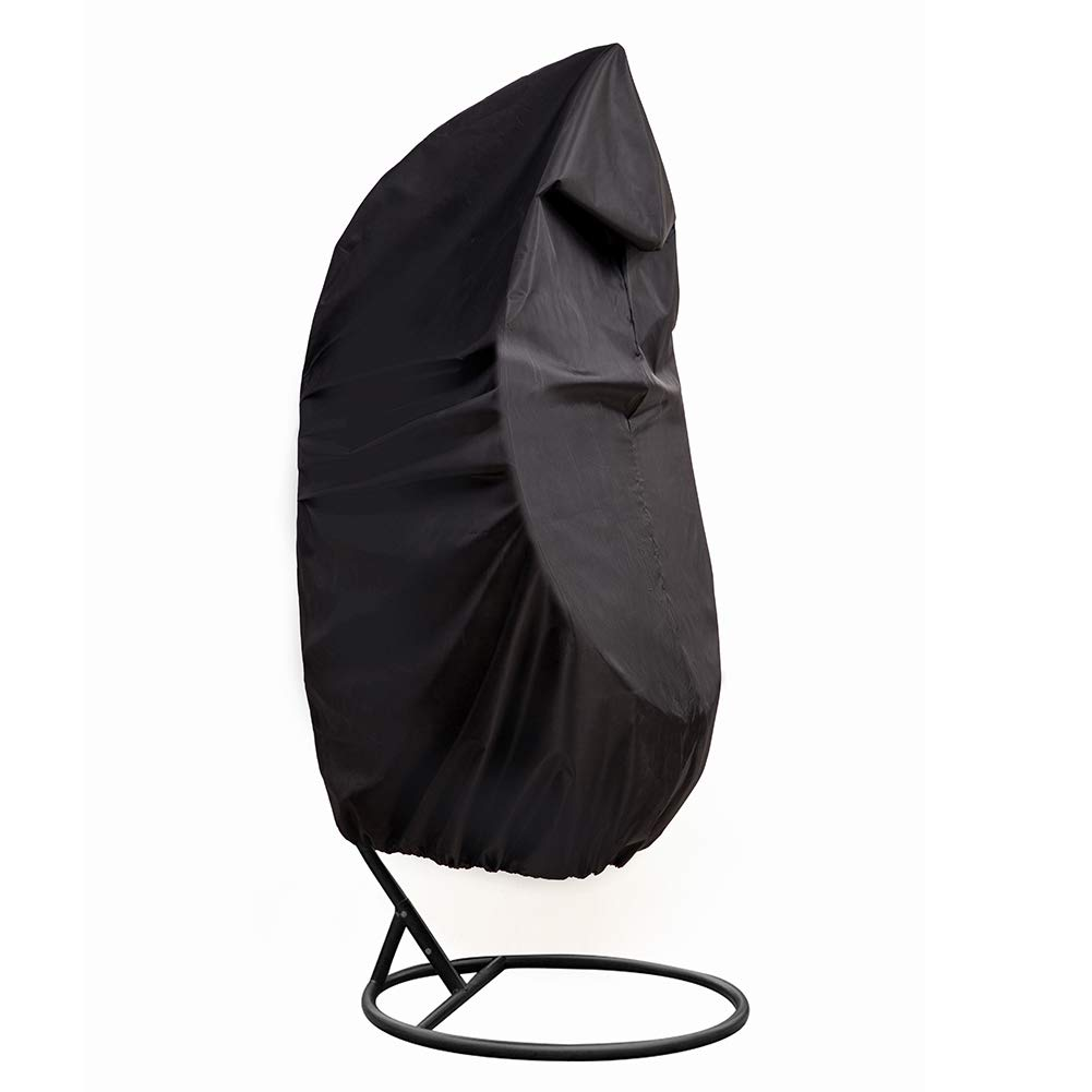 QEES Outdoor Patio Hanging Chair Cover, Heavy Duty Egg Swing Chair Covers Dust Cover, Outdoor Garden Waterproof Protector YZZ13