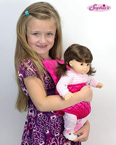 Sophia's Doll Carrier for 15 Inch Baby or 18 Inch Dolls, Soft Hot Pink Front Carrier with Straps ()