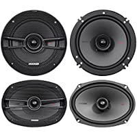 (2) Kicker 44KSC6904 6x9 600w+(2) 44KSC6504 6.5 400w Car Stereo Speakers