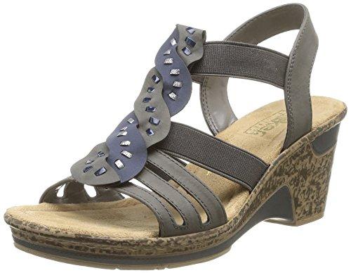 Rieker 60668/42, WoMen Sandals Gris (Gris Combin
