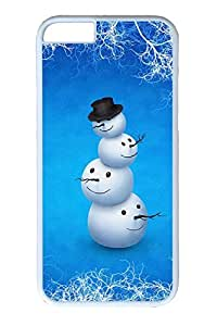iPhone 6 Case, Personalized Unique Design Covers for iPhone 6 PC White Case - Snow Christmas