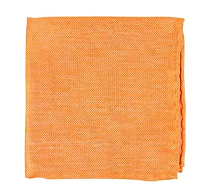 Linen Solid Tangerine Pocket Square