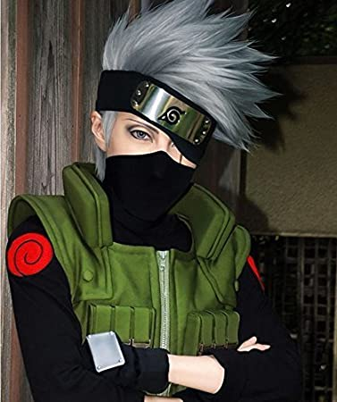 Sunny Business Anime Naruto Kakashi Hatake Of Cosplay Wigsheadband
