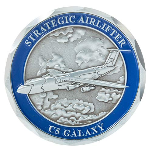(United States Air Force C-5 Galaxy Military Transport Aircraft Challenge Coin)