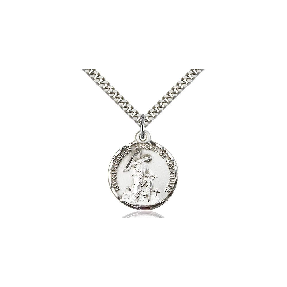 DiamondJewelryNY Sterling Silver Guardian Angel Pendant