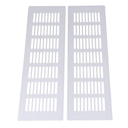 Ordinaire Air Vent Louvered Grill Covers Ventilation Grilles For Wardrobe Cabinet,2pcs  200mmx80mm Aluminum Alloy