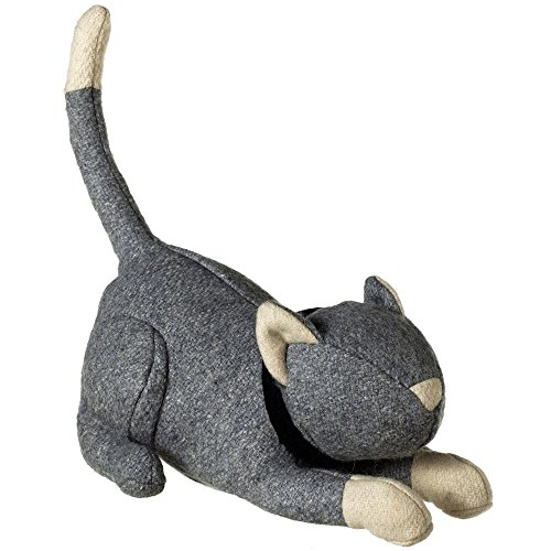 (Midwest-CBK Grey & White Cat Door Stop)