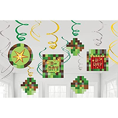 Amscan TNT Party Pixel Minecraft Swirl Decorations