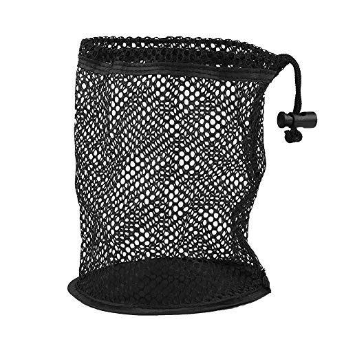 Vbestlife Golf Ball Bag, 1Pcs Durable Nylon Mesh Nets Bag Pouch Golf Tennis Ball 25/50 Balls Carrying Holder Storage Drawstring Closure Bag, Sliding Drawstring Cord Closure (25 Balls Collector)
