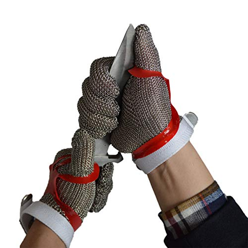 ZHANGZHIYUA Anself Cut Resistant Glove Stainless Steel Mesh Knife Cut Resistant Protective Glove by ZHANGZHIYUA (Image #3)