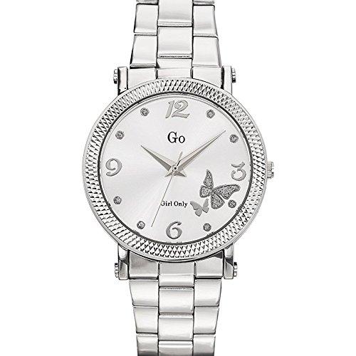 Go Girl Only 694760 Reloj de mujer, movimiento de cuarzo, analógico, esfera plateada