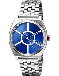 Nixon Mens Time Teller SW, R2D2 Blue Stainless Steel Bracelet Watch
