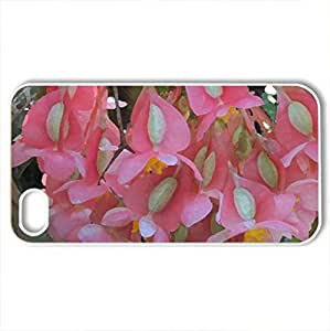 Alberta botanical garden 41 - Case Cover for iPhone 4 and 4s (Flowers Series, Watercolor style, White)