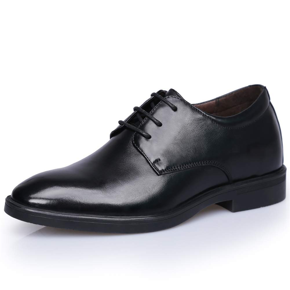 Herrenschuhe, 2019 Frühjahr Herren Formale Geschäftsschuhe, unsichtbare Erhöhung Leder Hochzeitsschuhe Mann Casual Dress Schuhe,schwarz,40