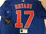 Kris Bryant Autographed Signed Authentic Majestic Blue Chicago Cubs Jersey Certified Authentic Hologram & Coa Card