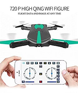 Mini WIFI RC Drone with Camera 2MP HD Camera Live Video Foldable Selfie RC Drone Pocket Altitude Hold Helicopter WIFI Drone Camera 720P HD MINI Drone from New Island