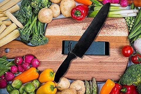Knife Sharpening Whetstone-Knife Sharpener for Kitchen Knives-240/1000 Grit Sharpener Stone-Anti-Slip Food Safety Base - Culinaire+ Collection