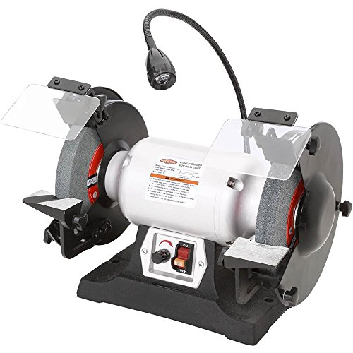Shop Fox W1840 Variable-Speed Grinder with Work Light, 8