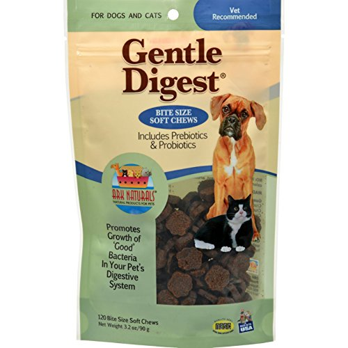Ark Naturals Gentle Digest for Dogs and Cats - 120 Soft Chews - Gluten Free - Yeast Free - Wheat Free - by ARK NATURALS