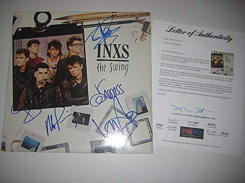 Inxs Signed The Swing Album - PSA/DNA Certified - Loa - Michael Hutchence 5 Members