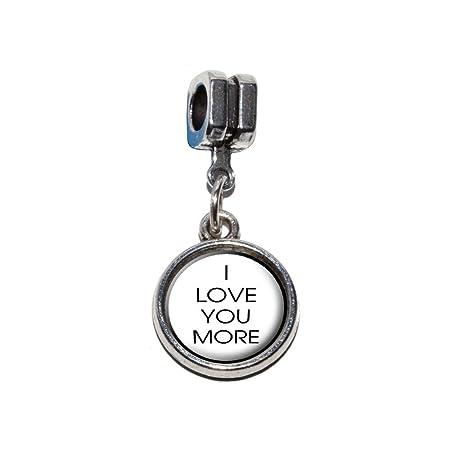 I Love You More Italian European Euro Style Bracelet Charm Bead